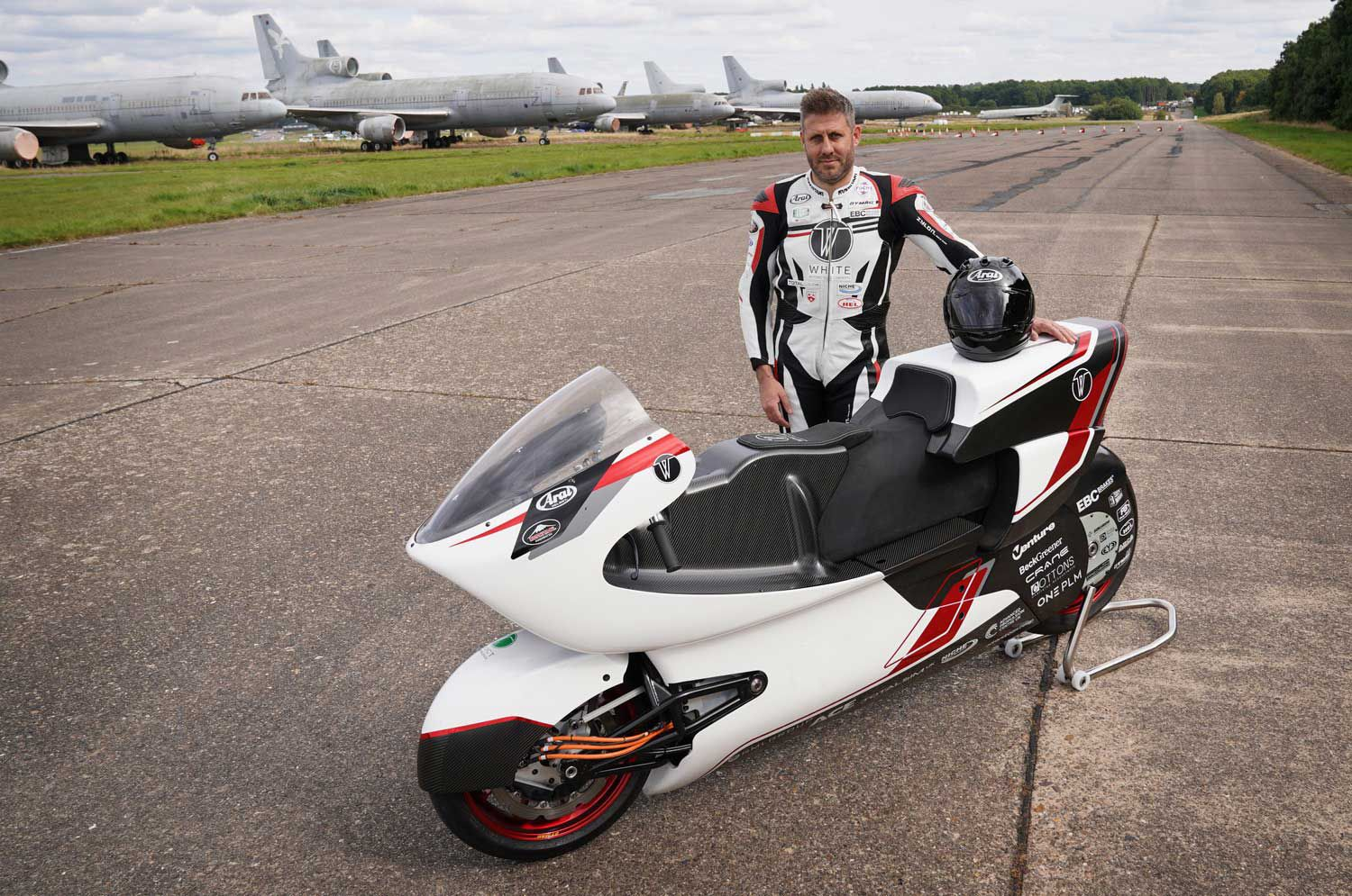 In test runs at an old military airbase, using an interim drivetrain with two-wheel drive, the bike is still hitting 170 mph.