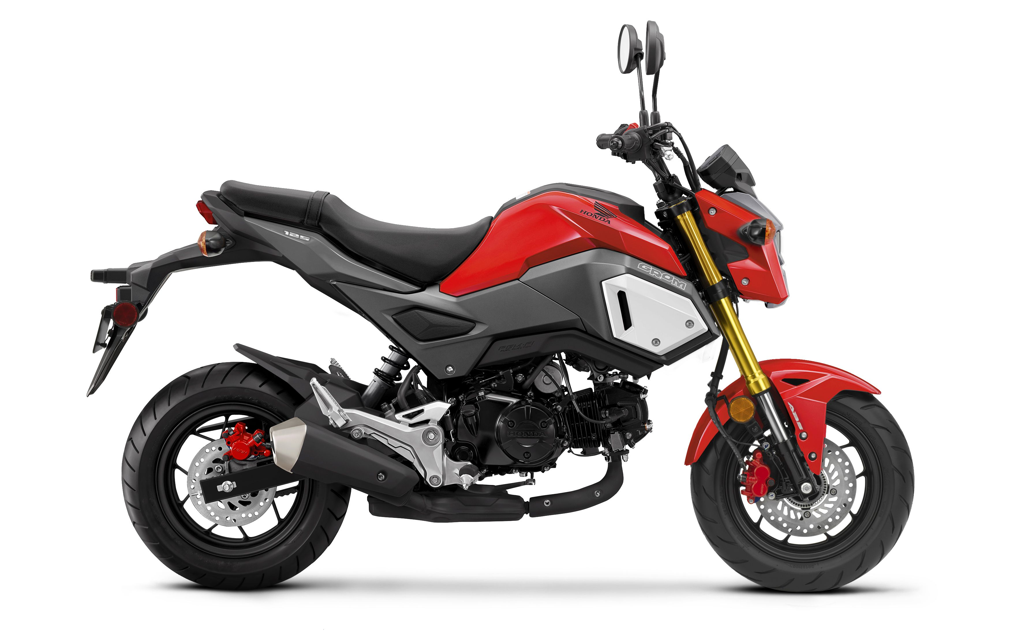 The 2020 Honda Grom ABS in Cherry Red.