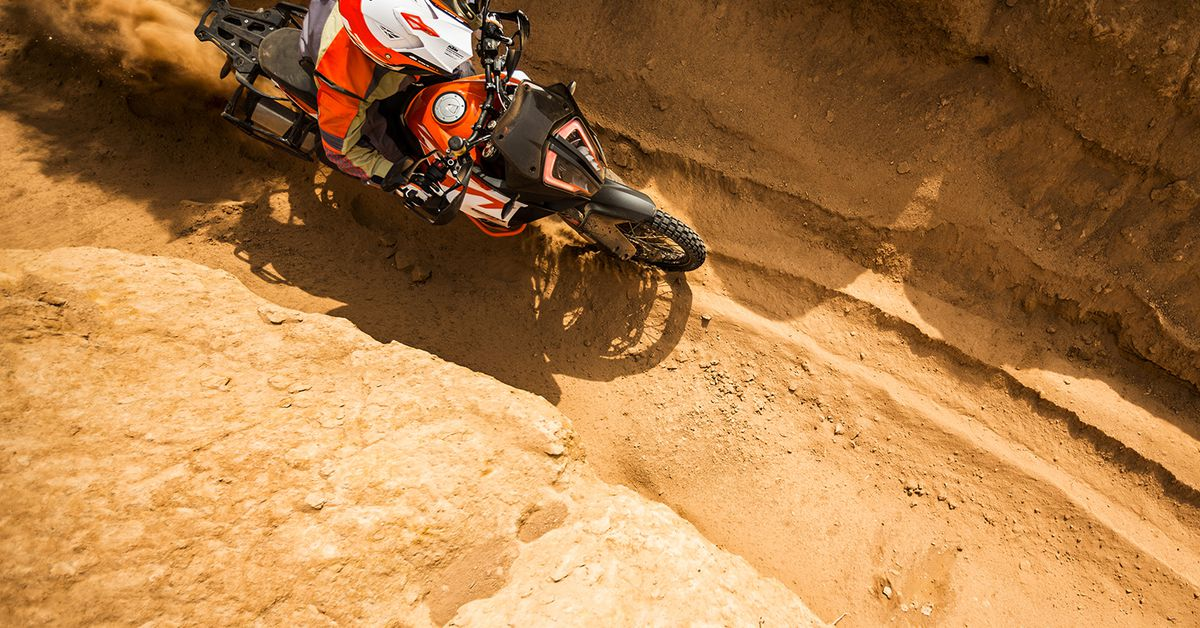 Riding Ruts On An Adventure Motorcycle