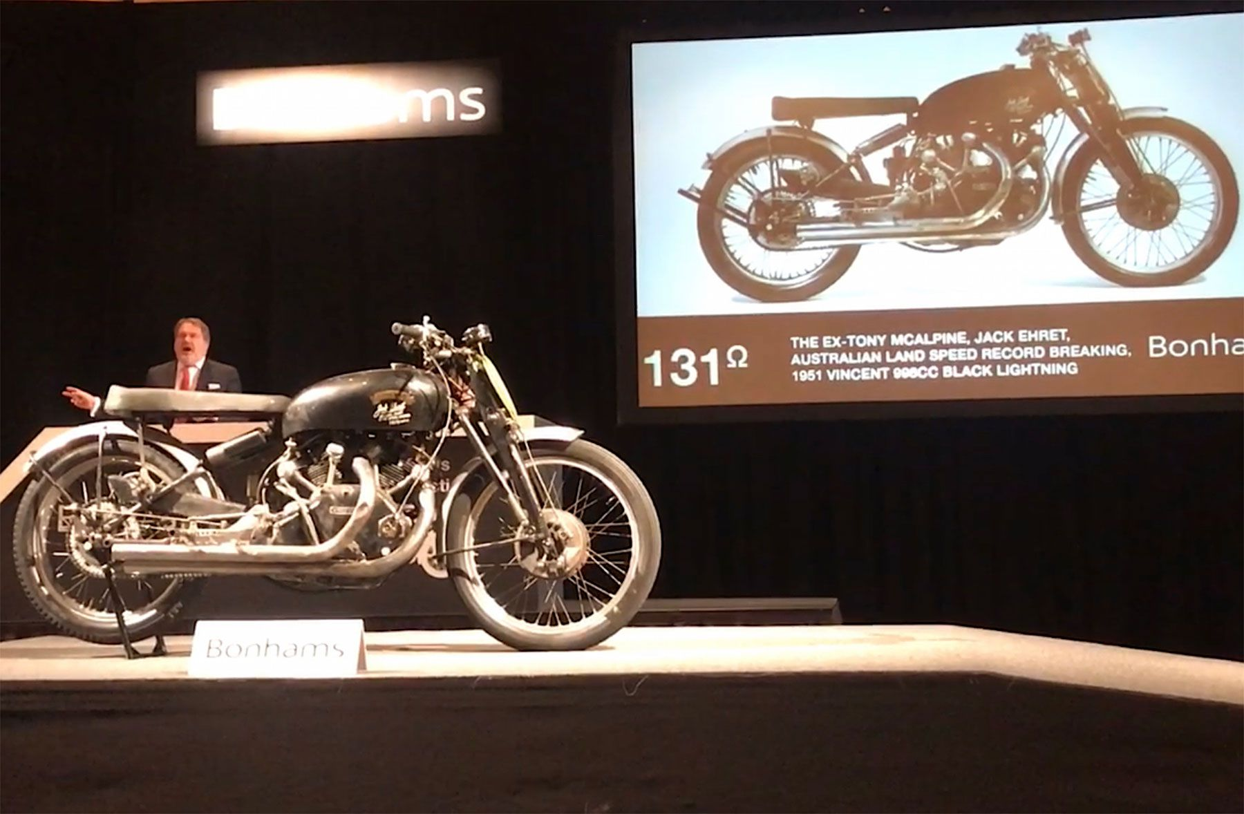 1. And the most expensive motorcycle is: this 1951 Vincent Black Lightning.