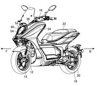 Yamaha E01 electric scooter patents front