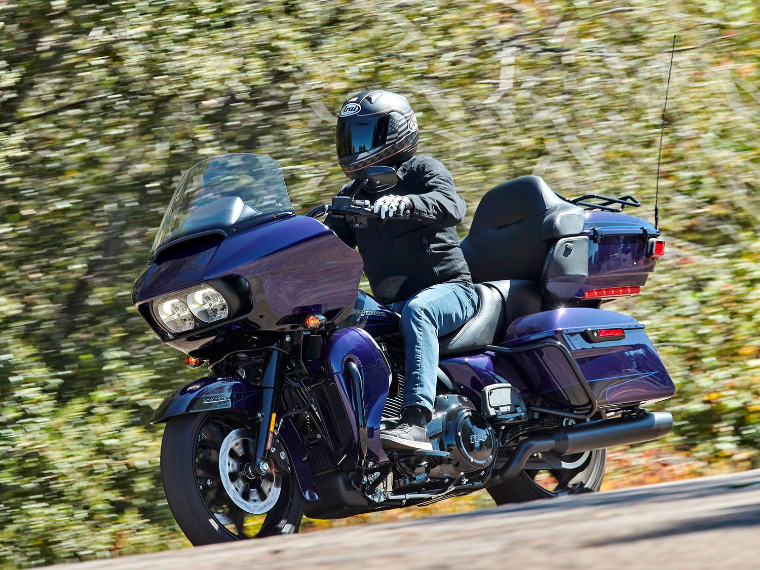 What do you think, blue or purple? Harley officially calls this color Zephyr Blue (with Black Finish) but a couple of us weren't so sure…