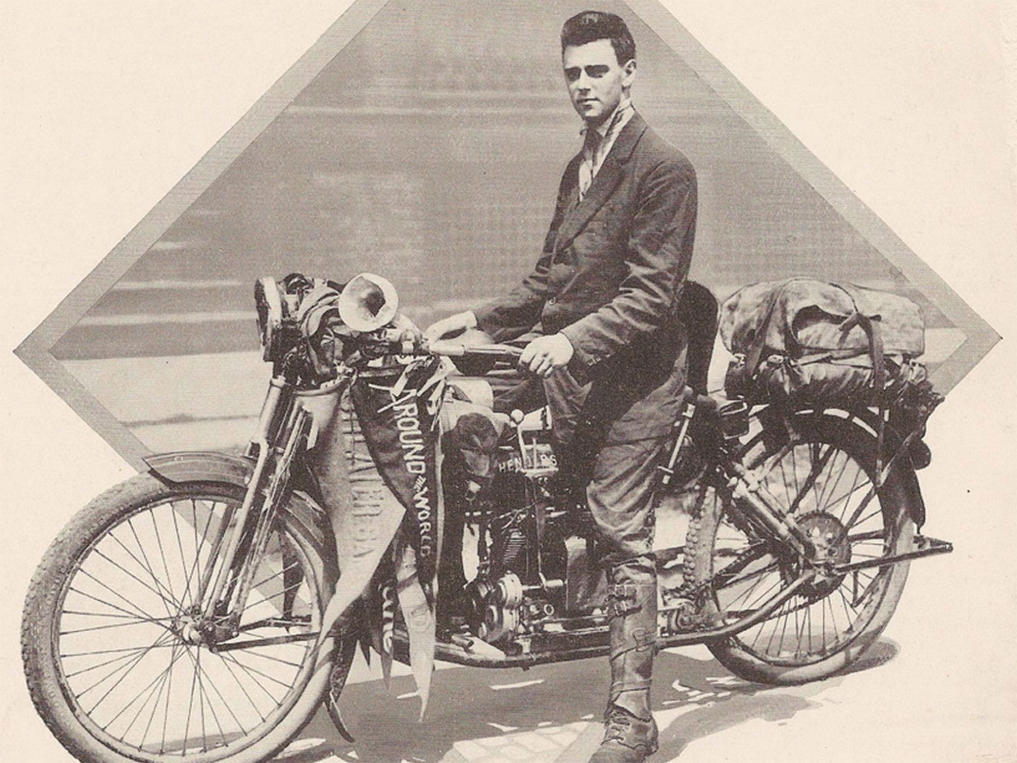 A man of style: Henderson reliability let Carl Stearns Clancy ride around the world in 1912.