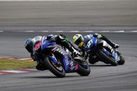motogp racers on the race track