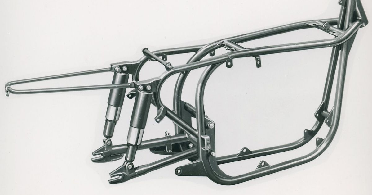 A Very Old Question About Motorcycle Frame Design