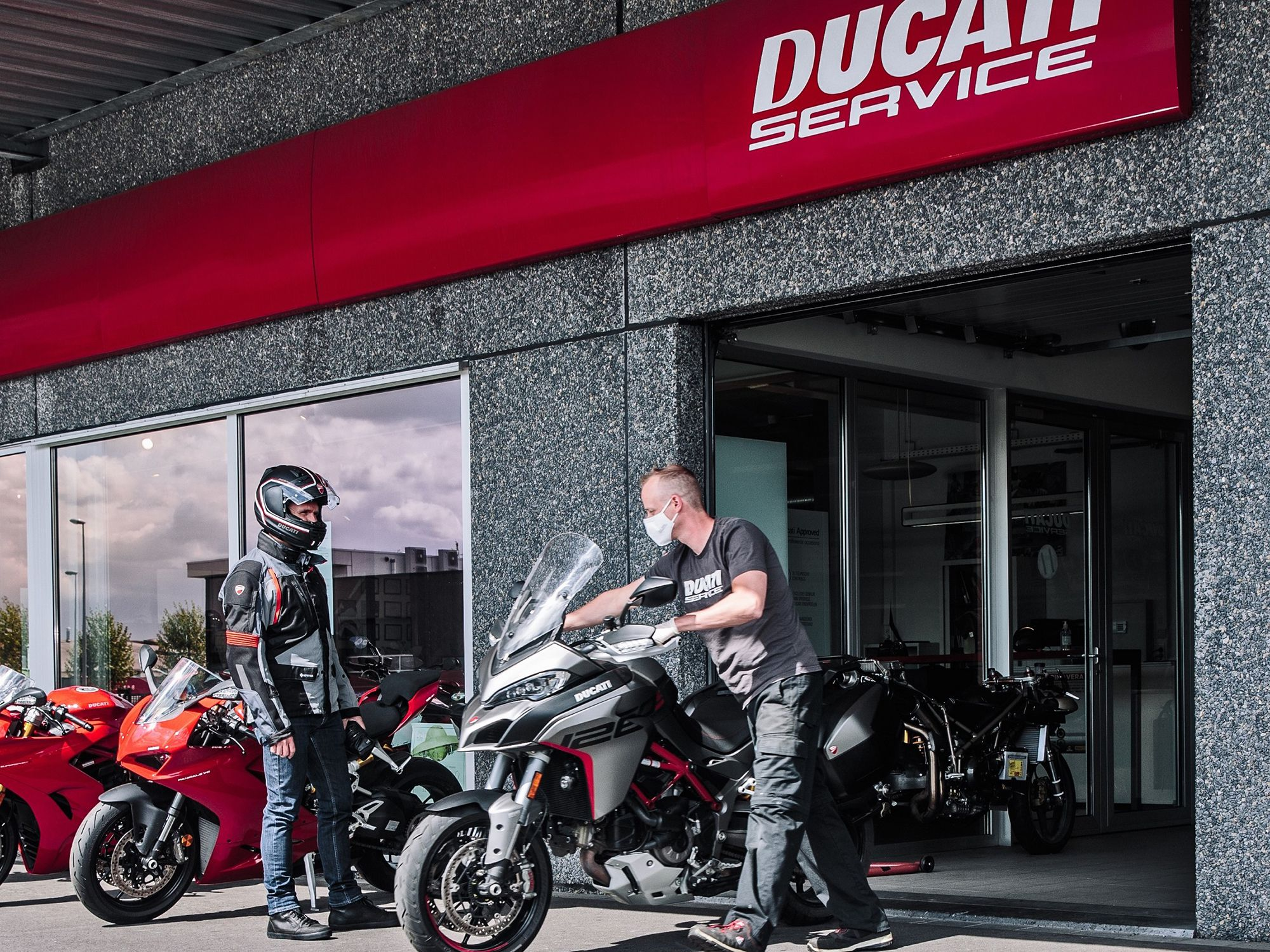 Ducati's flagship NYC store saw a healthy 24-percent increase in April 2020 for new motorcycles sold.