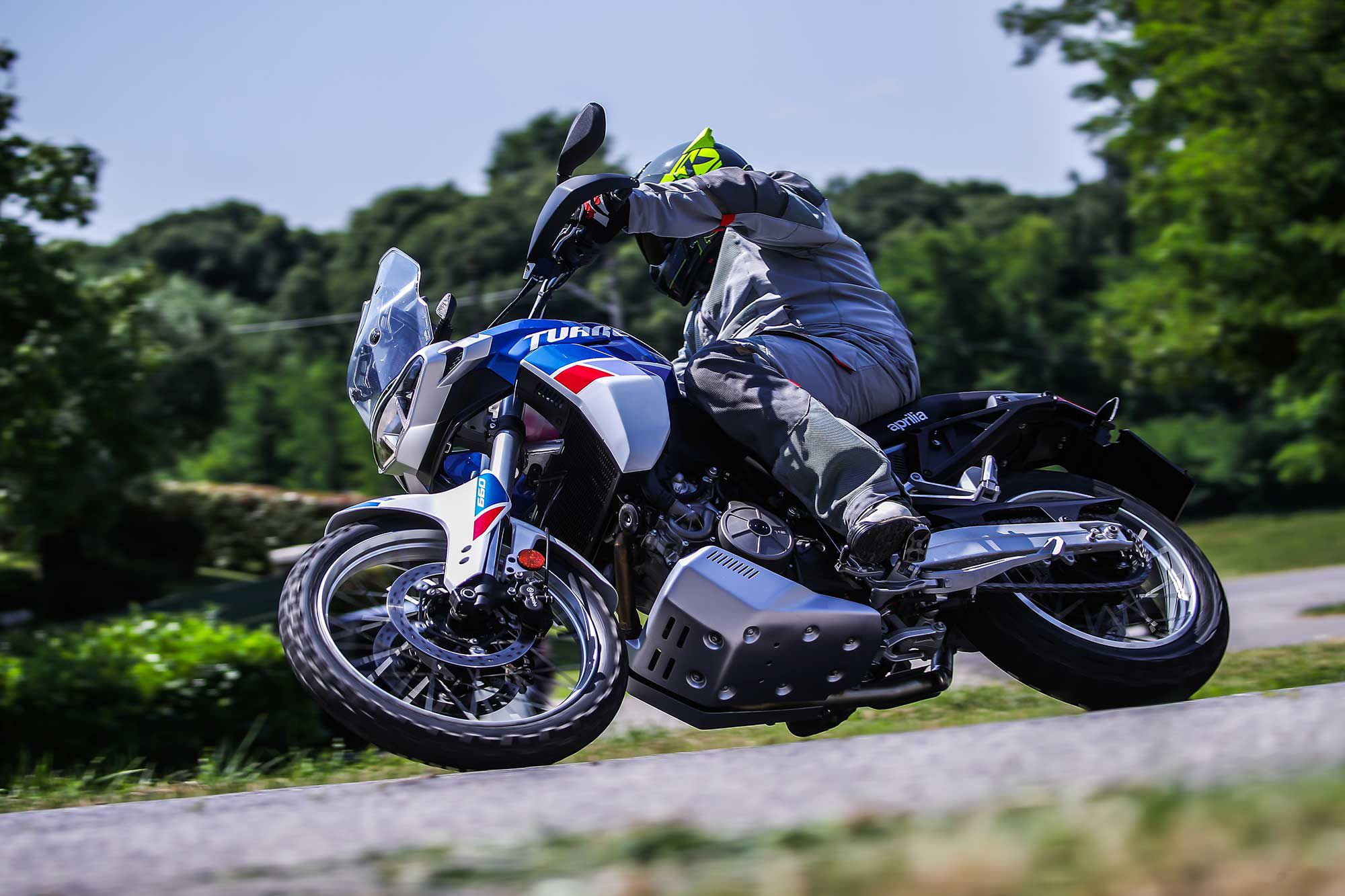 Front tire feel on the road is excellent on the Tuareg 660.