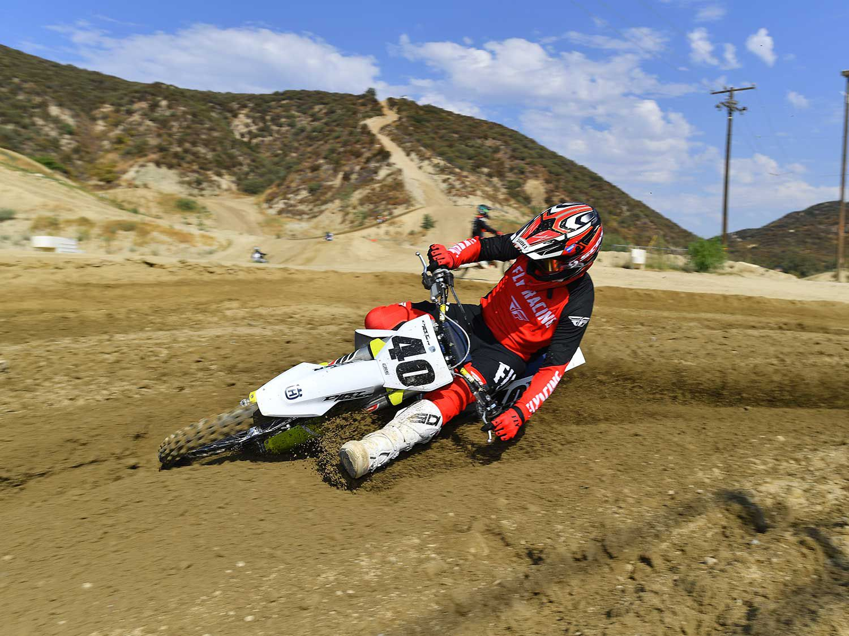 Riding the 2021 Husqvarna FC 450 at Glen Helen Raceway in San Bernardino, California.