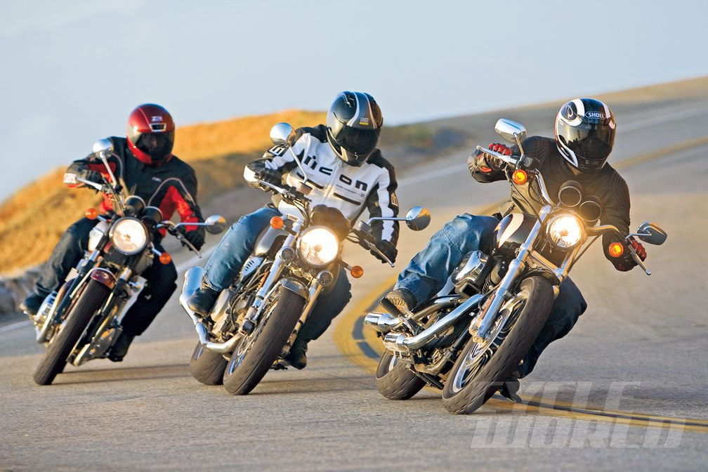 Harley Sportster vs  Triumph Bonneville vs  Ducati GT1000