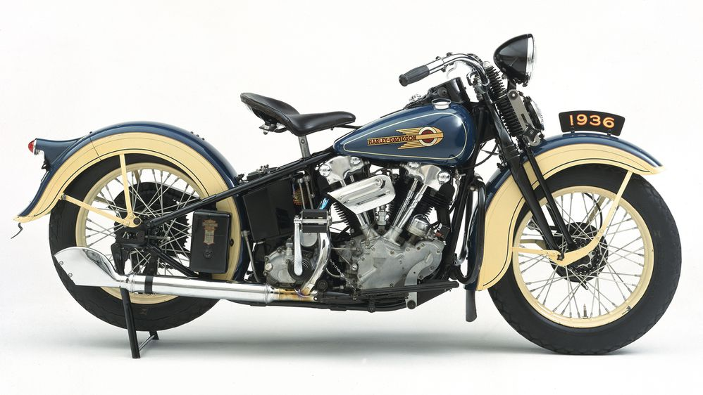 Harley-Davidson Knucklehead V-Twin Motorcycles, HISTORY OF ... on