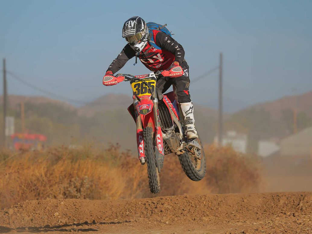 Racing the 2020 Honda CRF450RX at the 51st annual Lake Elsinore Grand Prix.