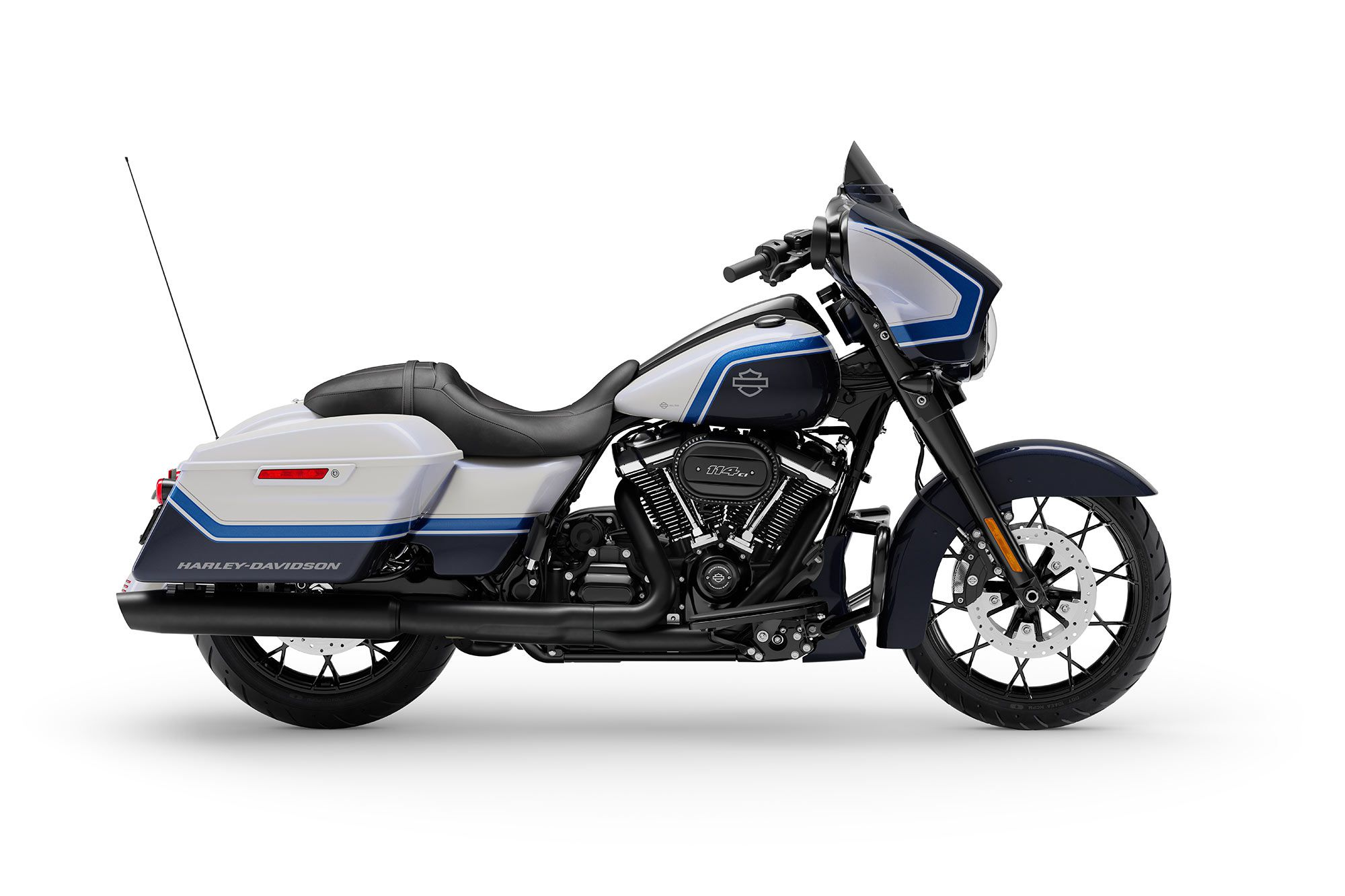 The Street Glide Special in Arctic Blast has an MSRP of $38,899.