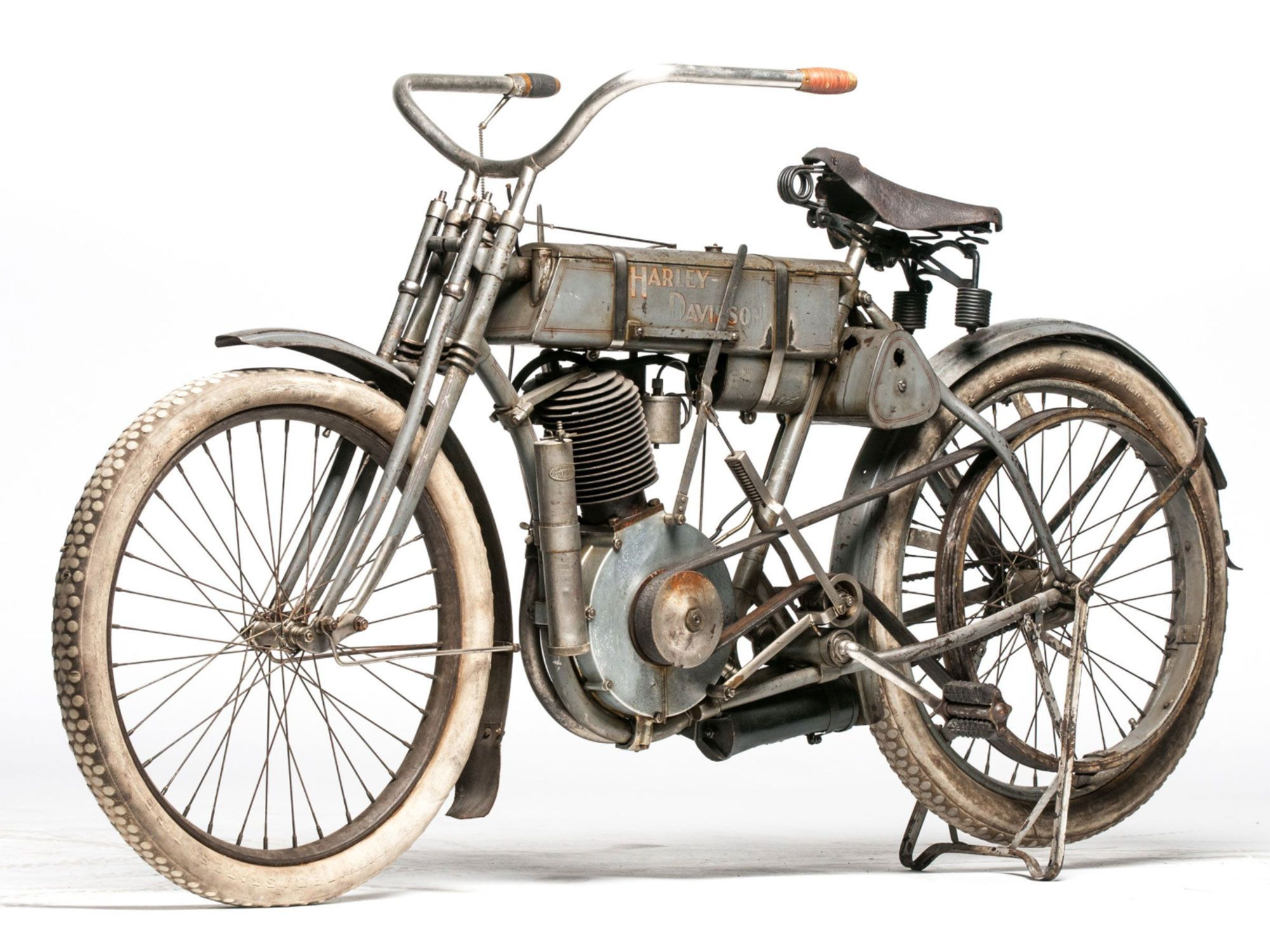 4. Time-warp original and just the 94th Harley ever built, this 1907 Strap Tank is ultra rare.