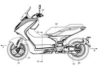 Yamaha E01 Electric Scooter patent left side