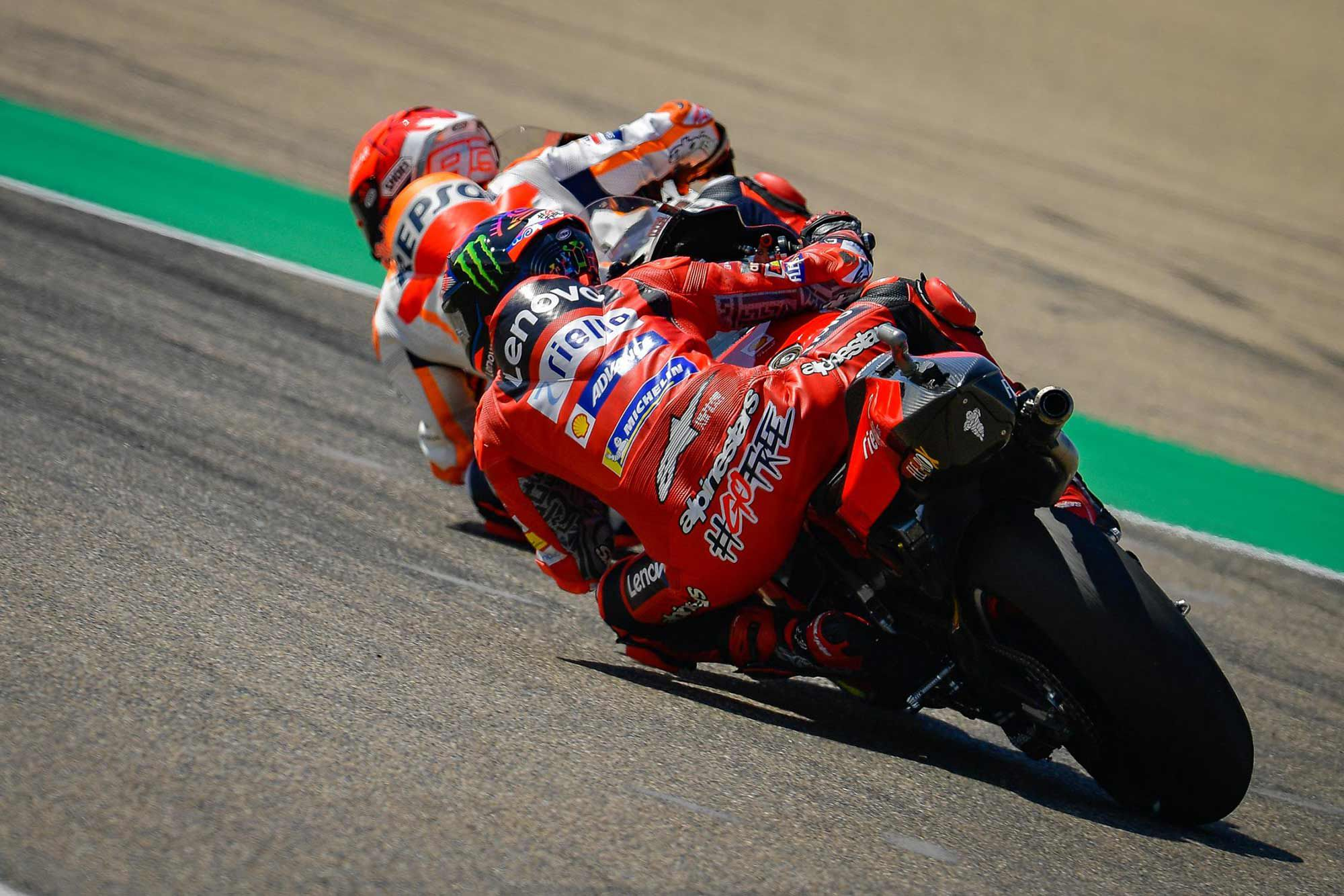 The Ducati's cornering ability at Aragón allowed Bagnaia to counter every move Márquez made.