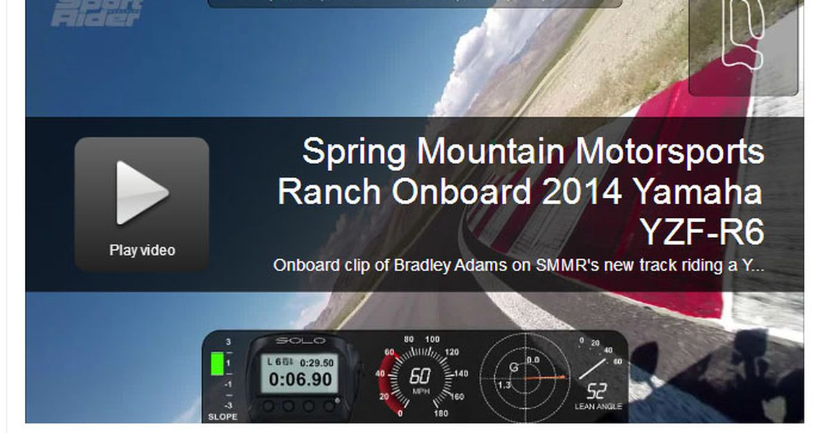 Video: Testing a Yamaha YZF-R6 at Spring Mountain