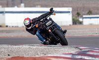 Harley-Davidson on the track