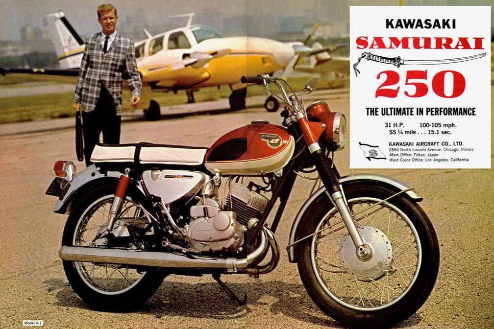 kawasaki samurai 250 ad from dec 1966 cycle world