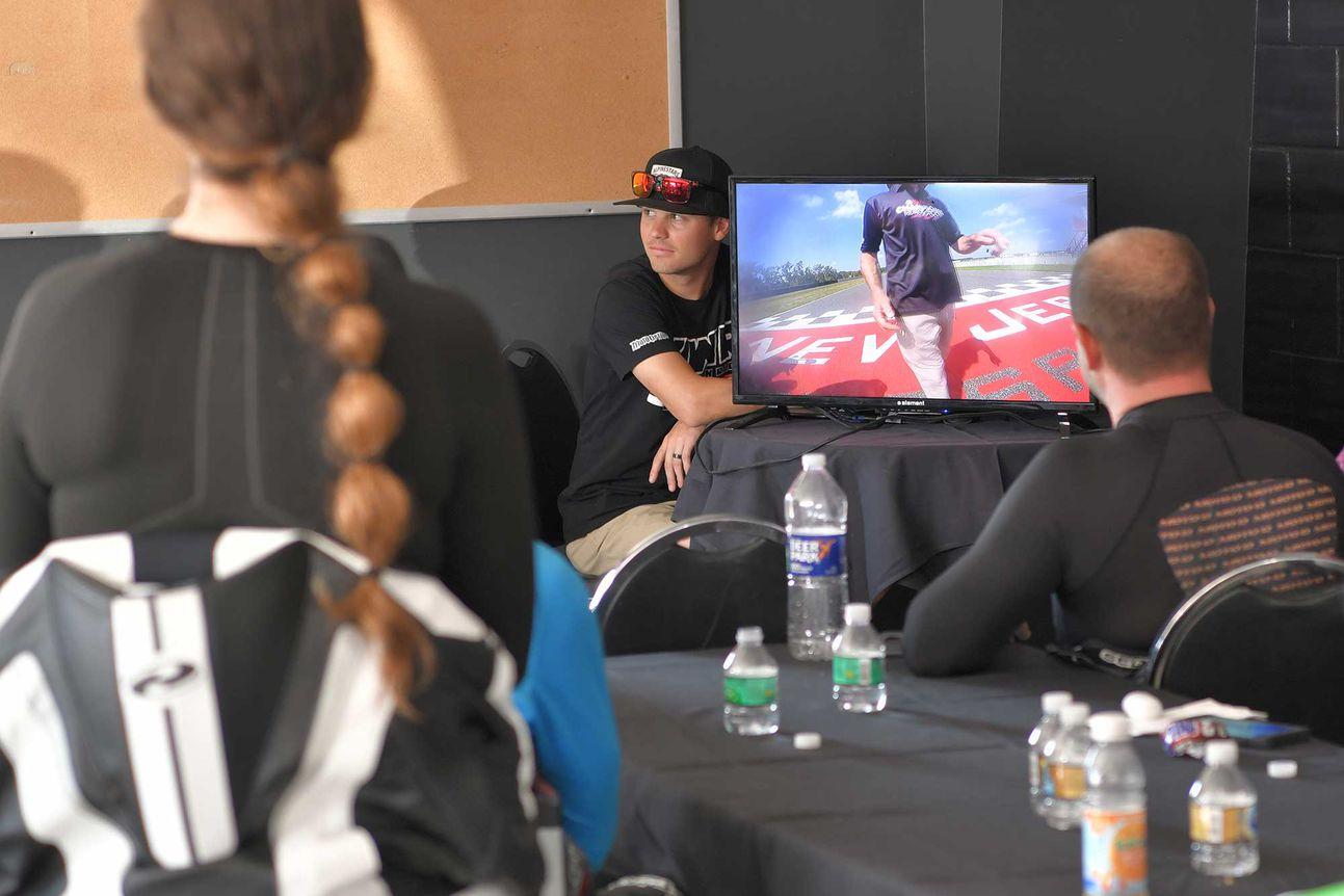MotoAmerica Superbike rider Kyle Wyman talking us through our filmed laps.