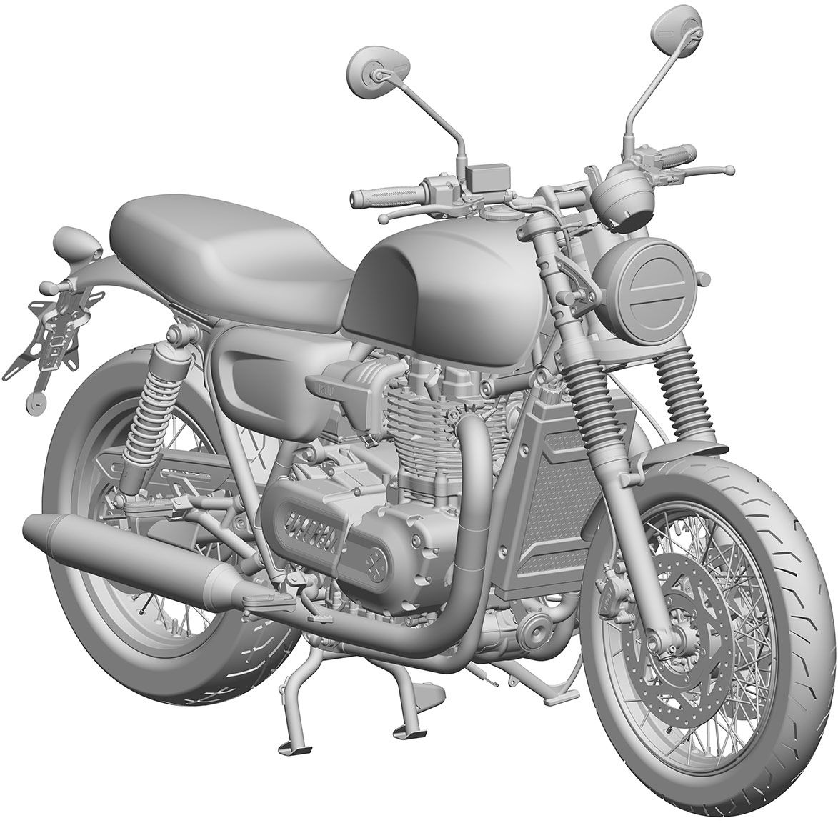 These renderings show Brixton's design will likely have a 1,200cc displacement, with other elements also closely mimicking that of the current Triumph Bonneville.
