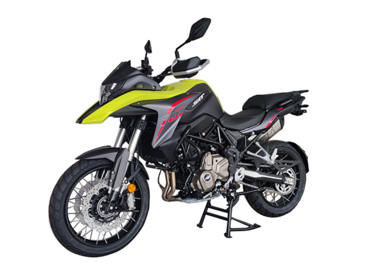 QJ's SRT 700 features a 693cc twin-cylinder engine, but looks similar to Benelli's TRK 502, suggesting a larger Benelli variant would fly.