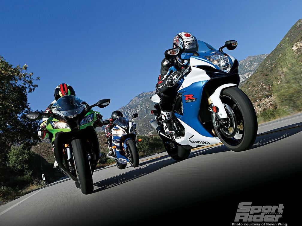 The Displacement Test: Yamaha R6 vs  Suzuki GSX-R750 vs  Kawasaki ZX