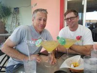 nick ienatsch and keith culver talk over giant margaritas
