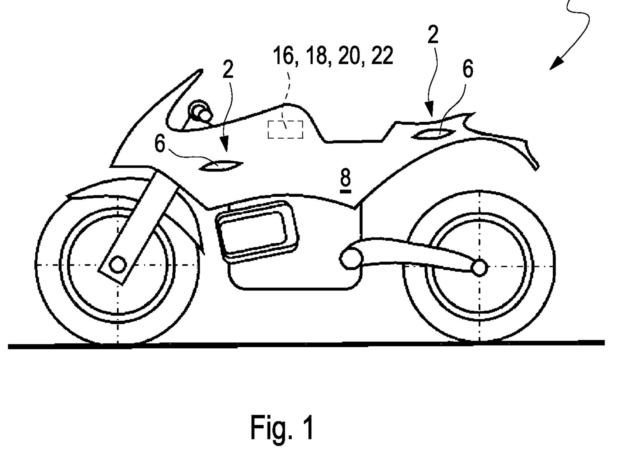 There's not a lot of detail in the patent, but BMW may be working on winglets for its future superbikes.