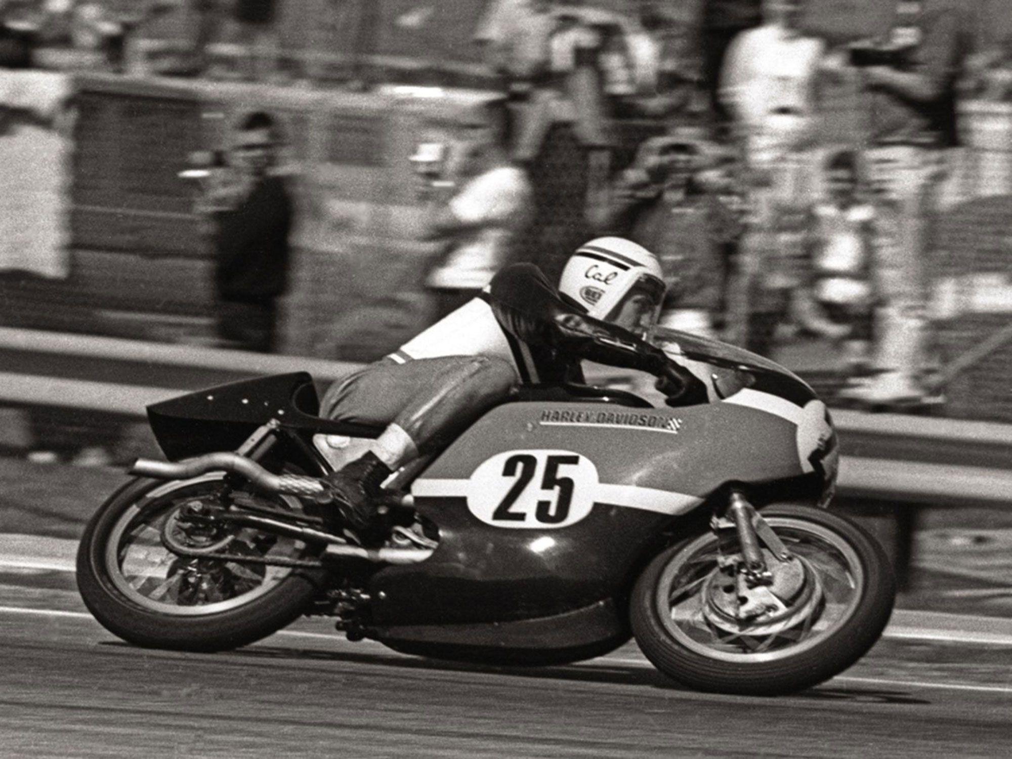Cal Rayborn took the 1968 Daytona 200 on a flathead Harley-Davidson KR.