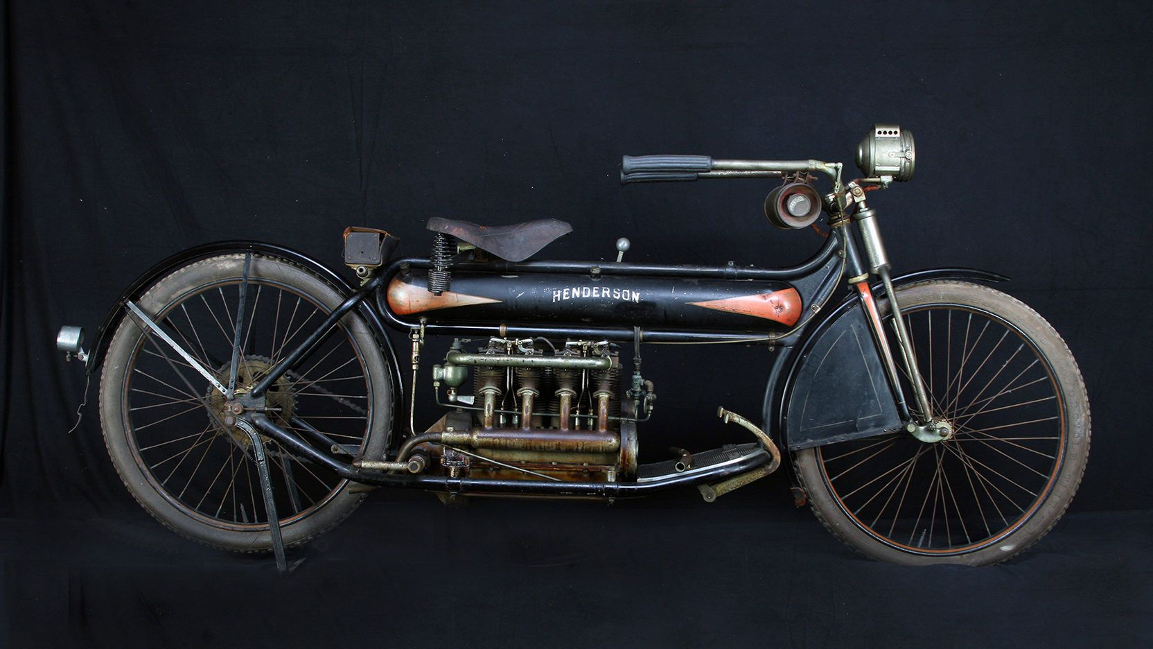 10. This original paint American-made 1912 Henderson four made $490,000 at auction in 2017.