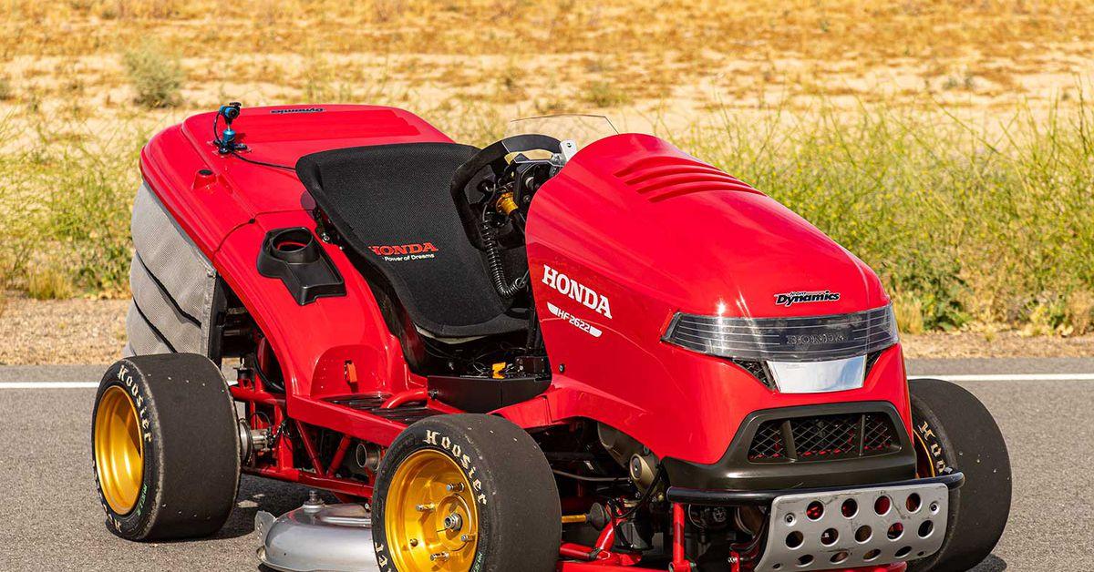 Honda's 150MPH, CBR1000RR-powered Riding Lawn Mower
