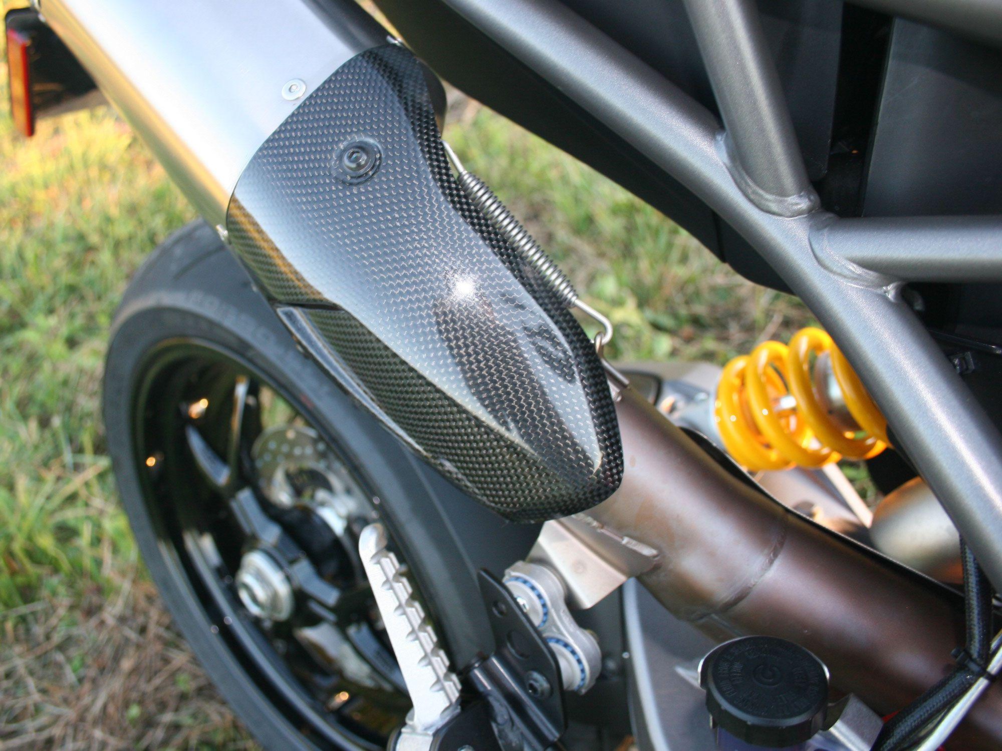 Carbon fiber details.