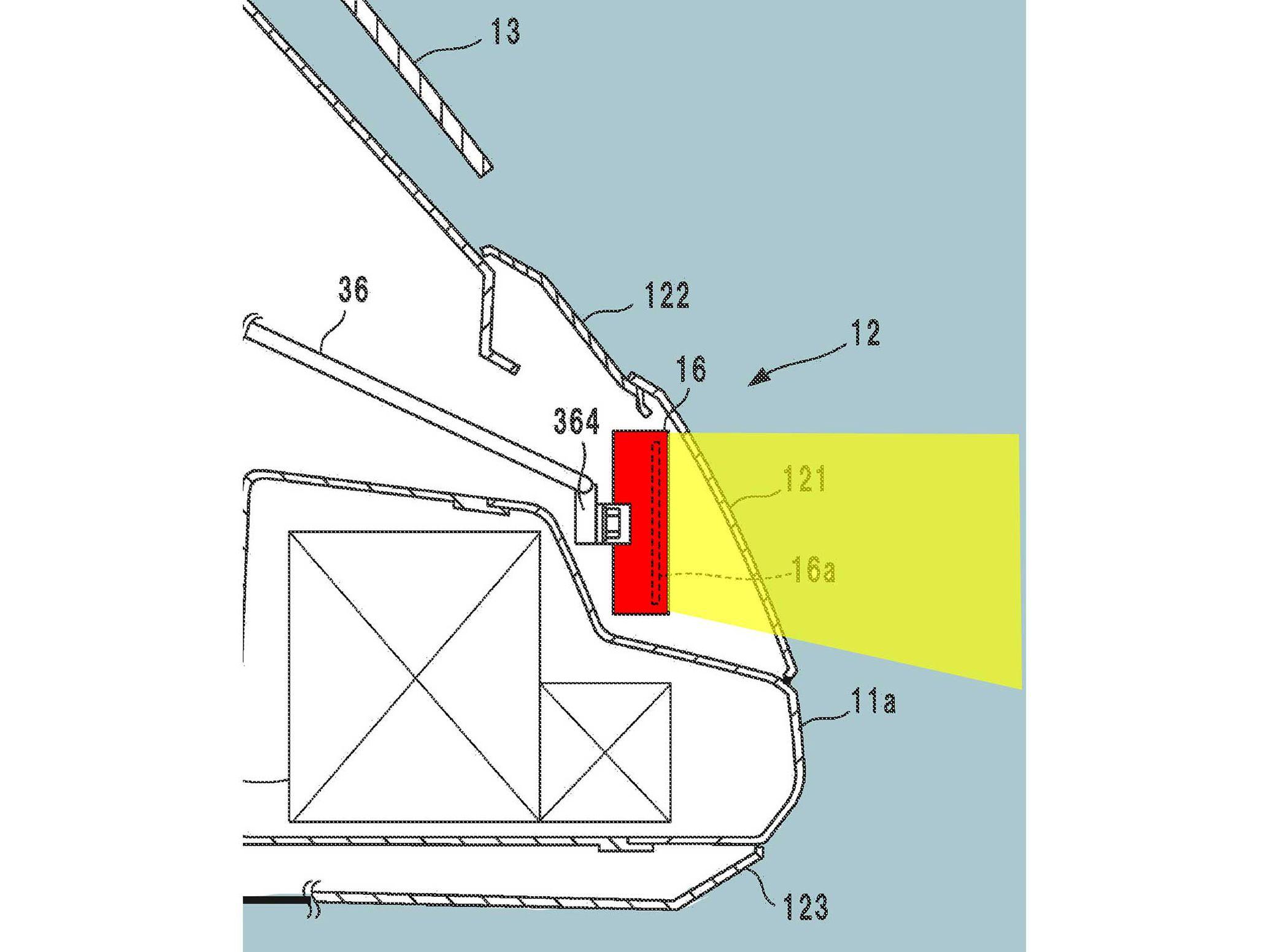 Dibujo de patente Honda Gold Wing