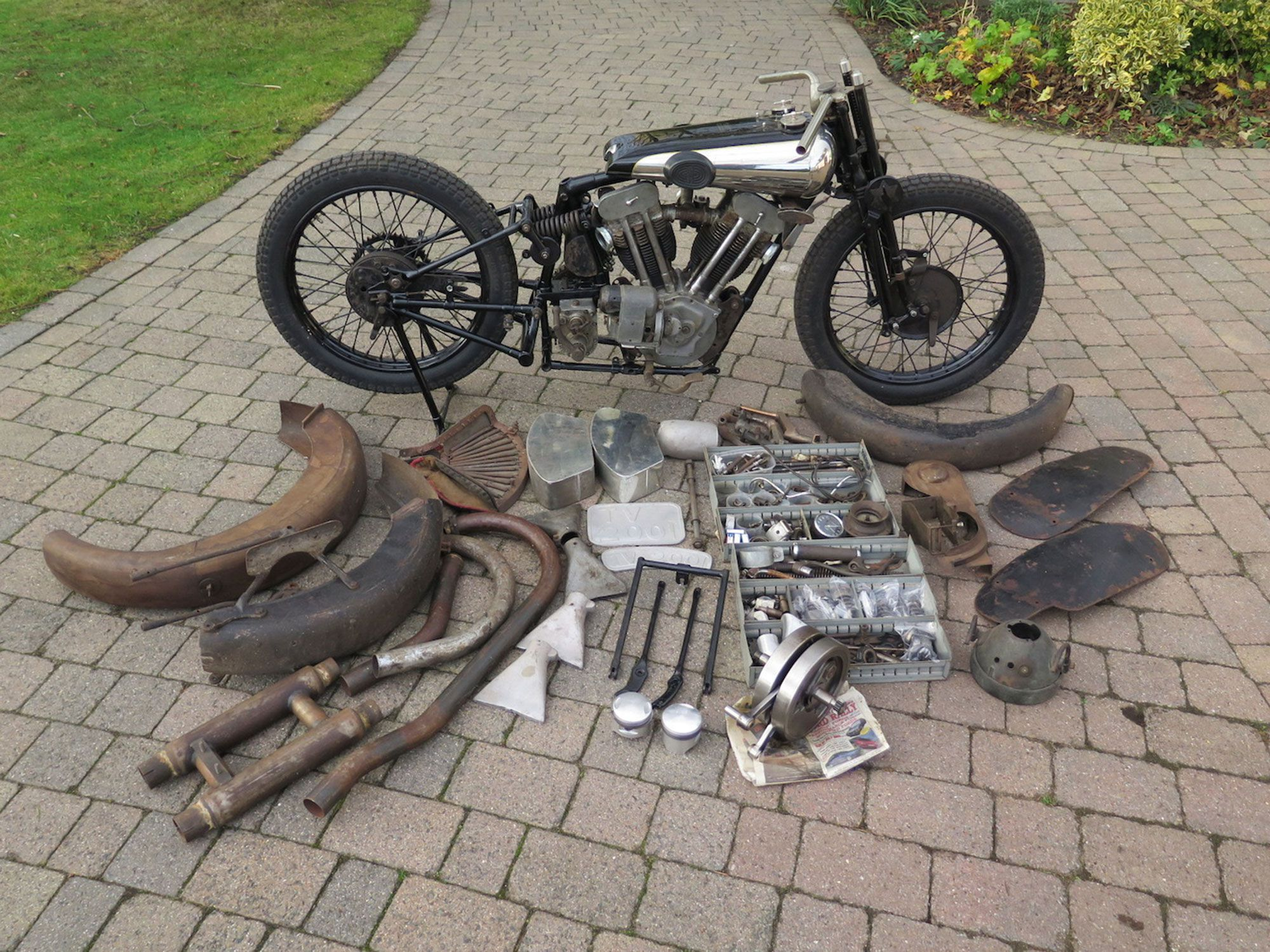 8. This rolling basket case was George Brough's personal SS100.