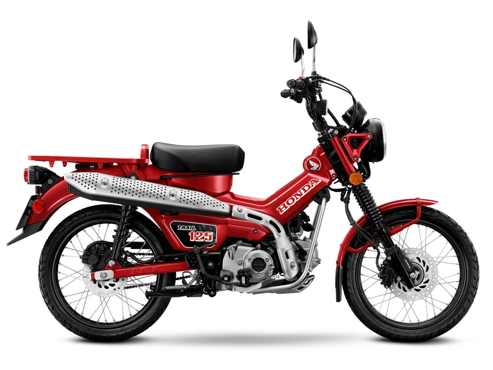 The Trail 125 is based on Honda's Super Cub, but features a more rugged and off-road-capable build.