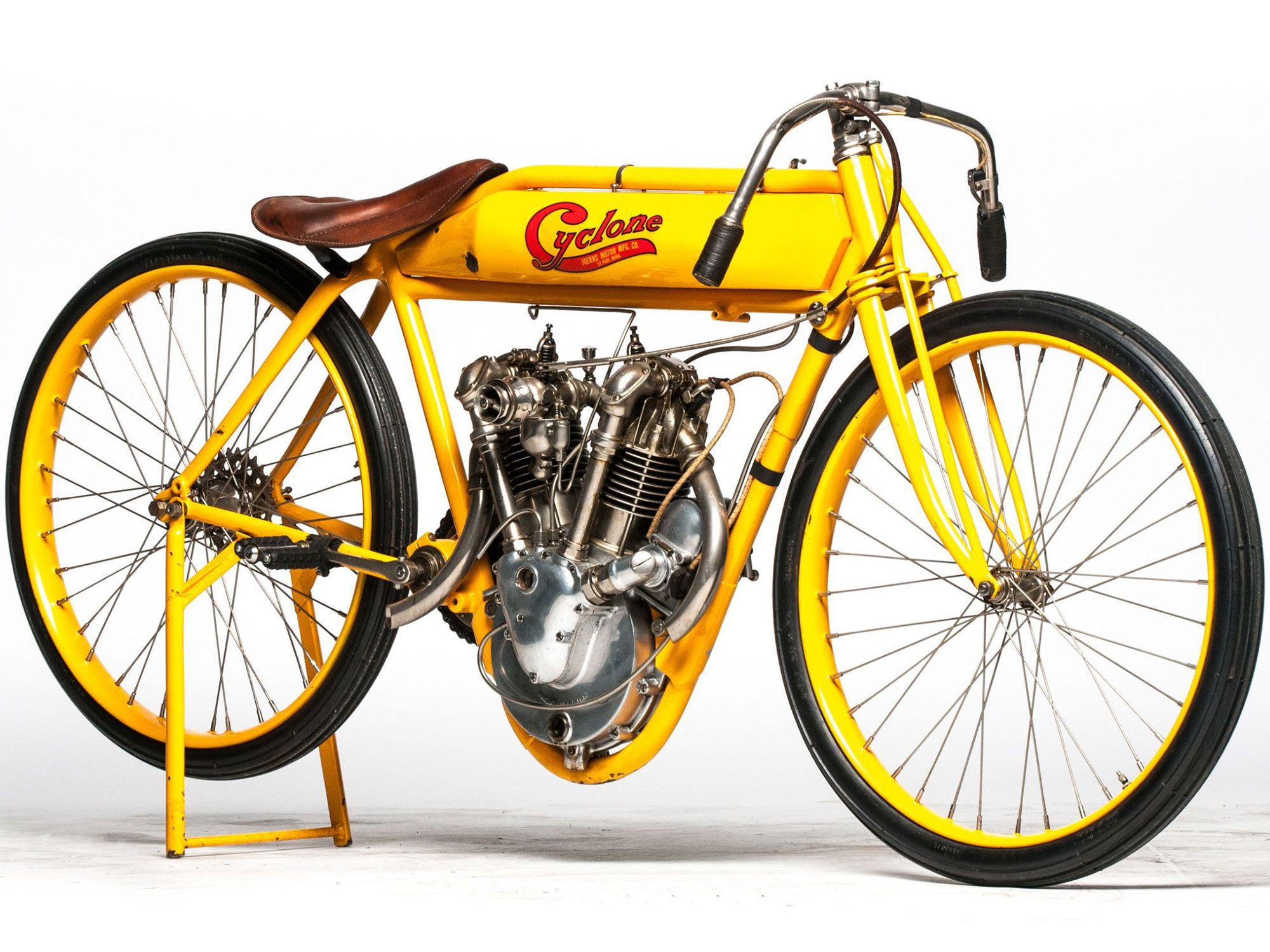 2. Steve McQueen once owned this 1915 Cyclone board track racer, pushing its value way up.