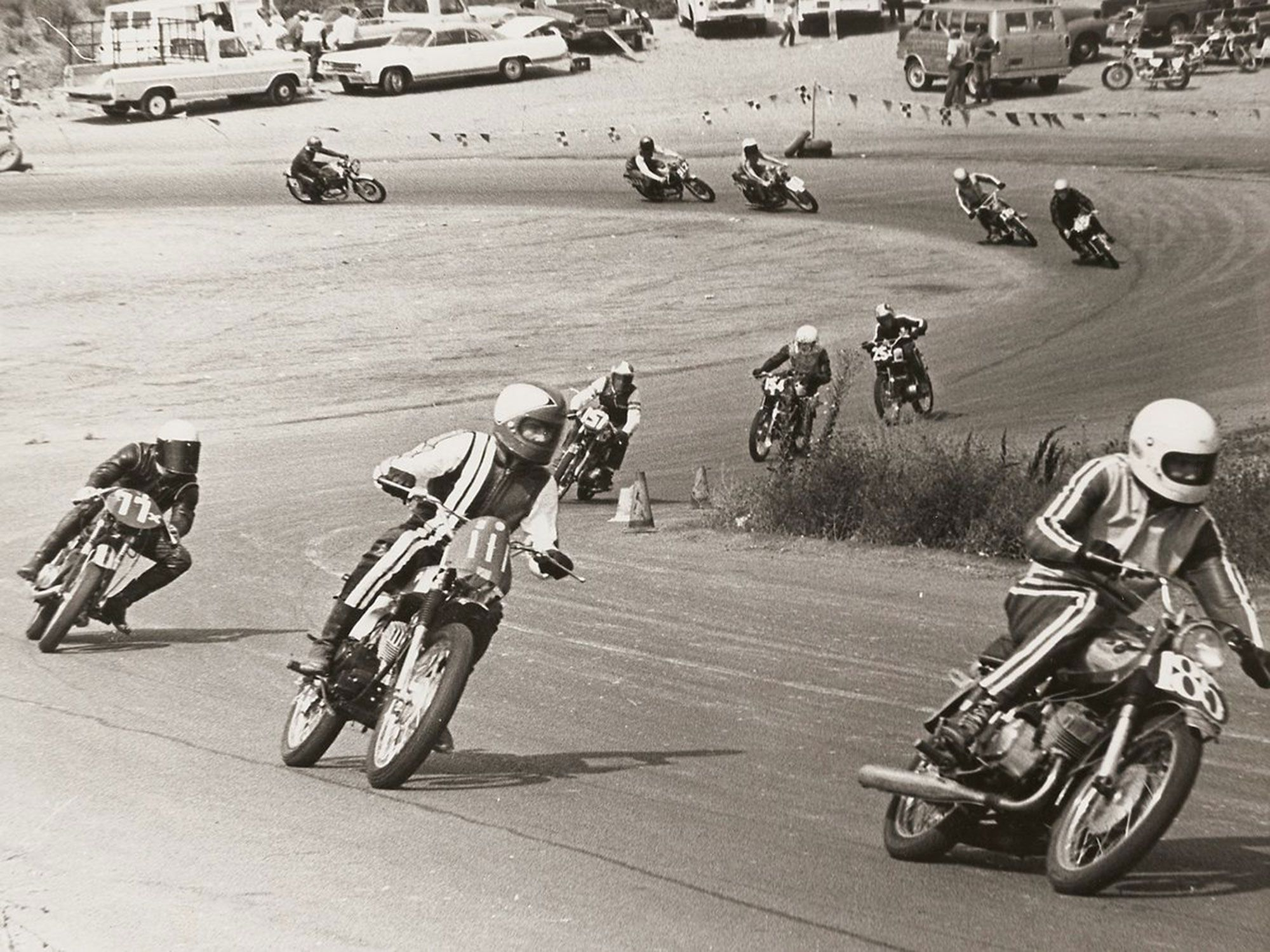 By the early 1970s, more powerful motorcycles were starting to overwhelm the narrow-profile, skinny tires of the day