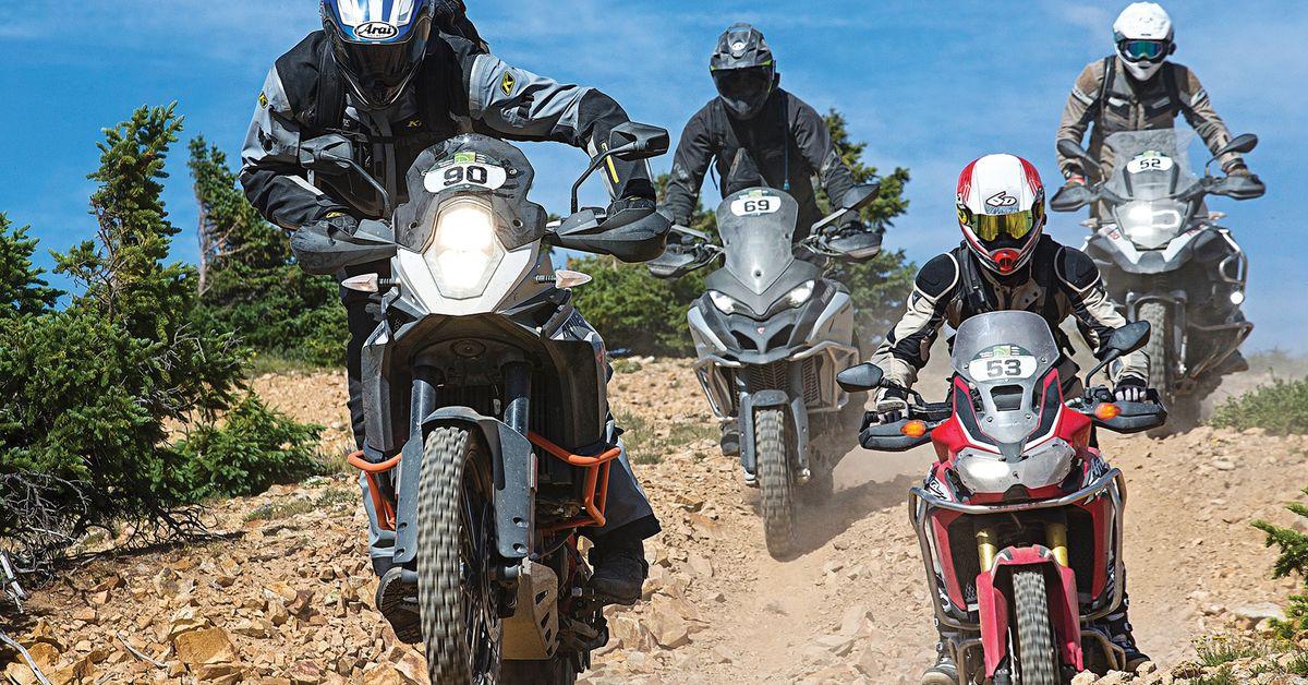 BMW R1200GS Adventure vs. Ducati Multistrada Enduro vs. Honda Africa Twin vs. KTM 1190 Adventure R - COMPARISON TEST