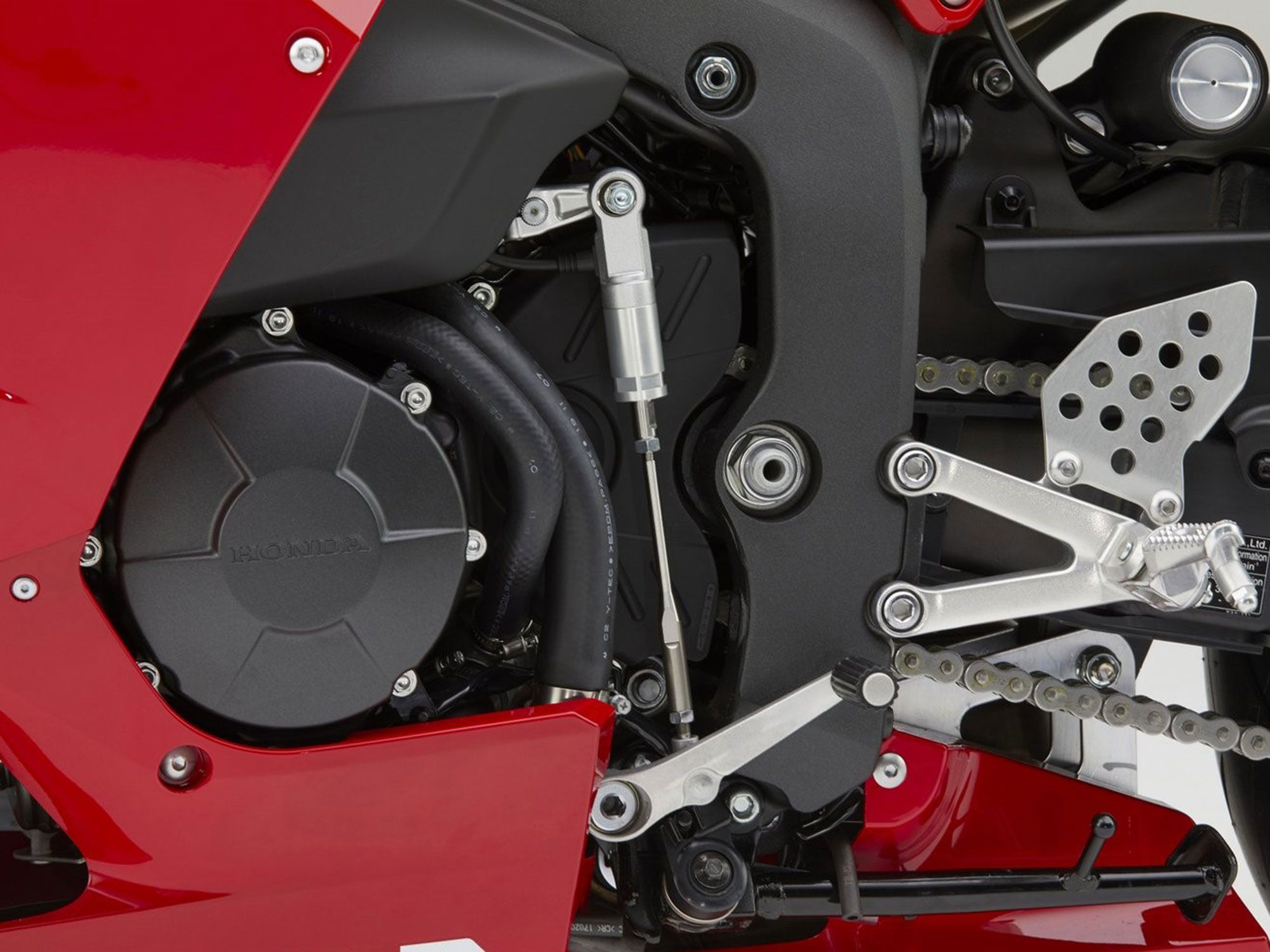 Although the 599cc engine now gets cleaner emissions to meet Japan's latest rules, there's no change to bore and stroke, and performance gains appear minimal at best.
