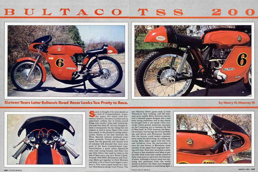 Bultaco Motorcycles History, CLASSICS REMEMBERED | Cycle World