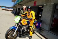 carry and nancy andrew with vintage heavyweight superbike