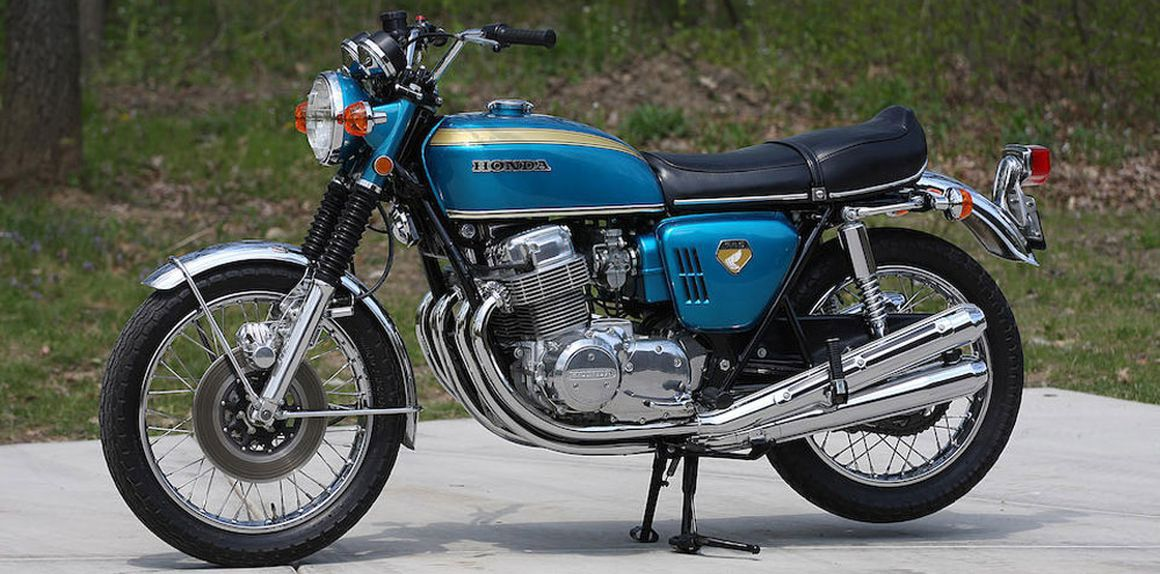 One of the ways the CB750 changed the industry in 1969 was by simplifying production via a one-piece crankshaft and plain journal bearings. Shown is a 1970 model.