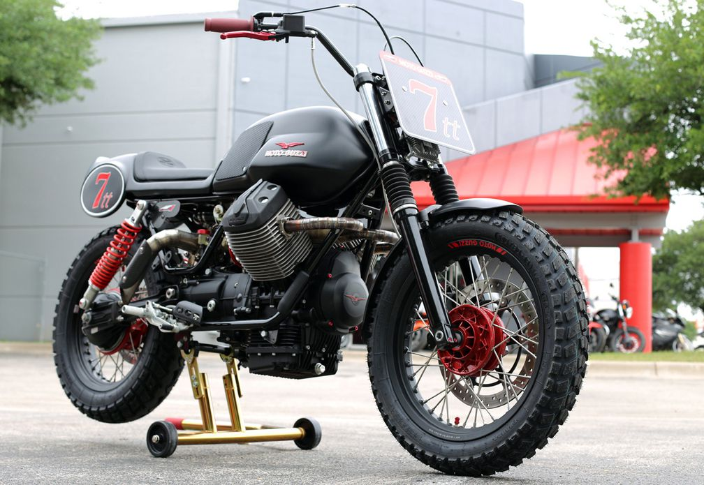 AF1 Racing Moto Guzzi V7 Turbo Charged Custom Motorcycle | Cycle World
