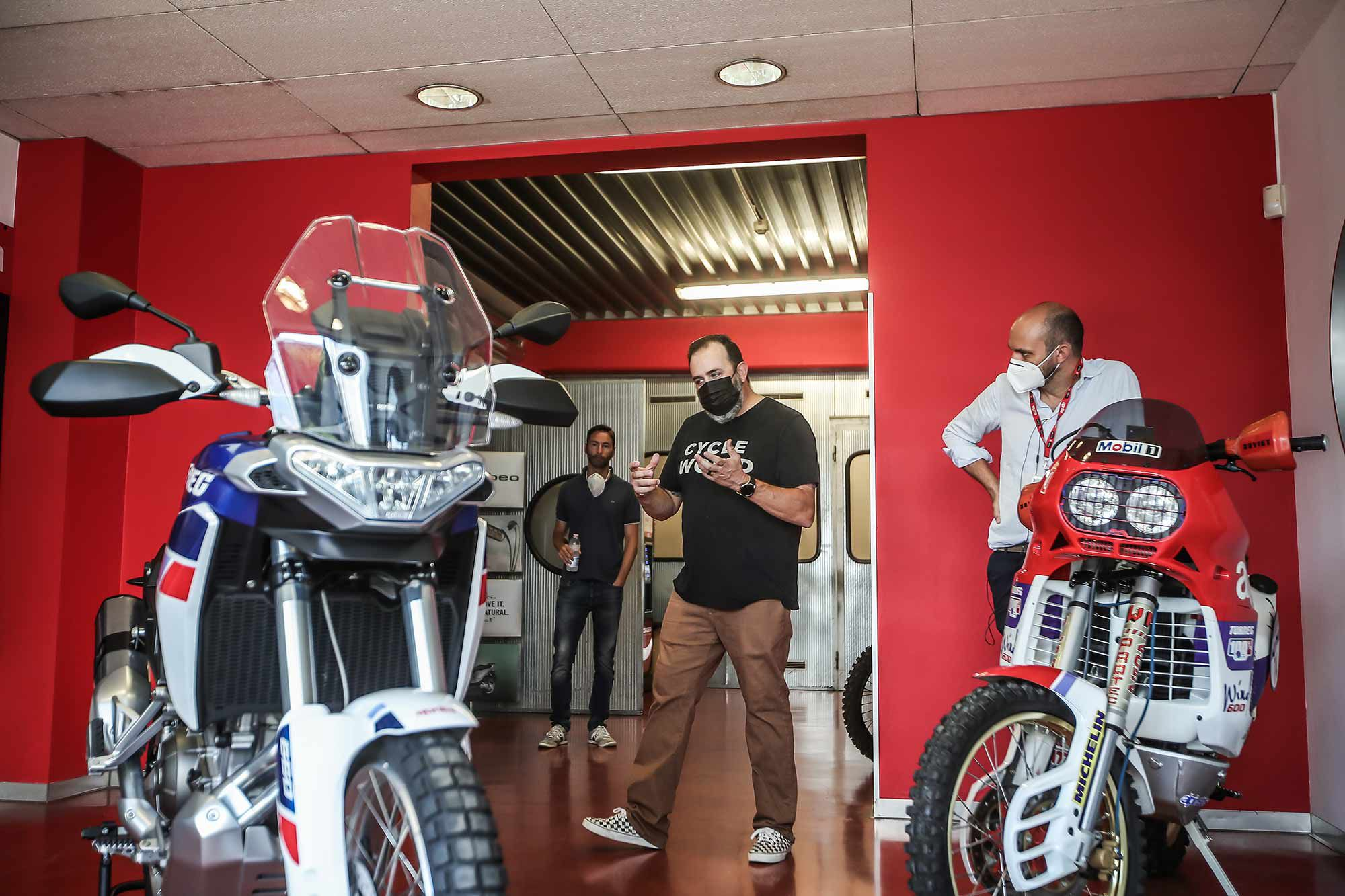 Expressing first thoughts of the Aprilia Tuareg 660 after it was unveiled.