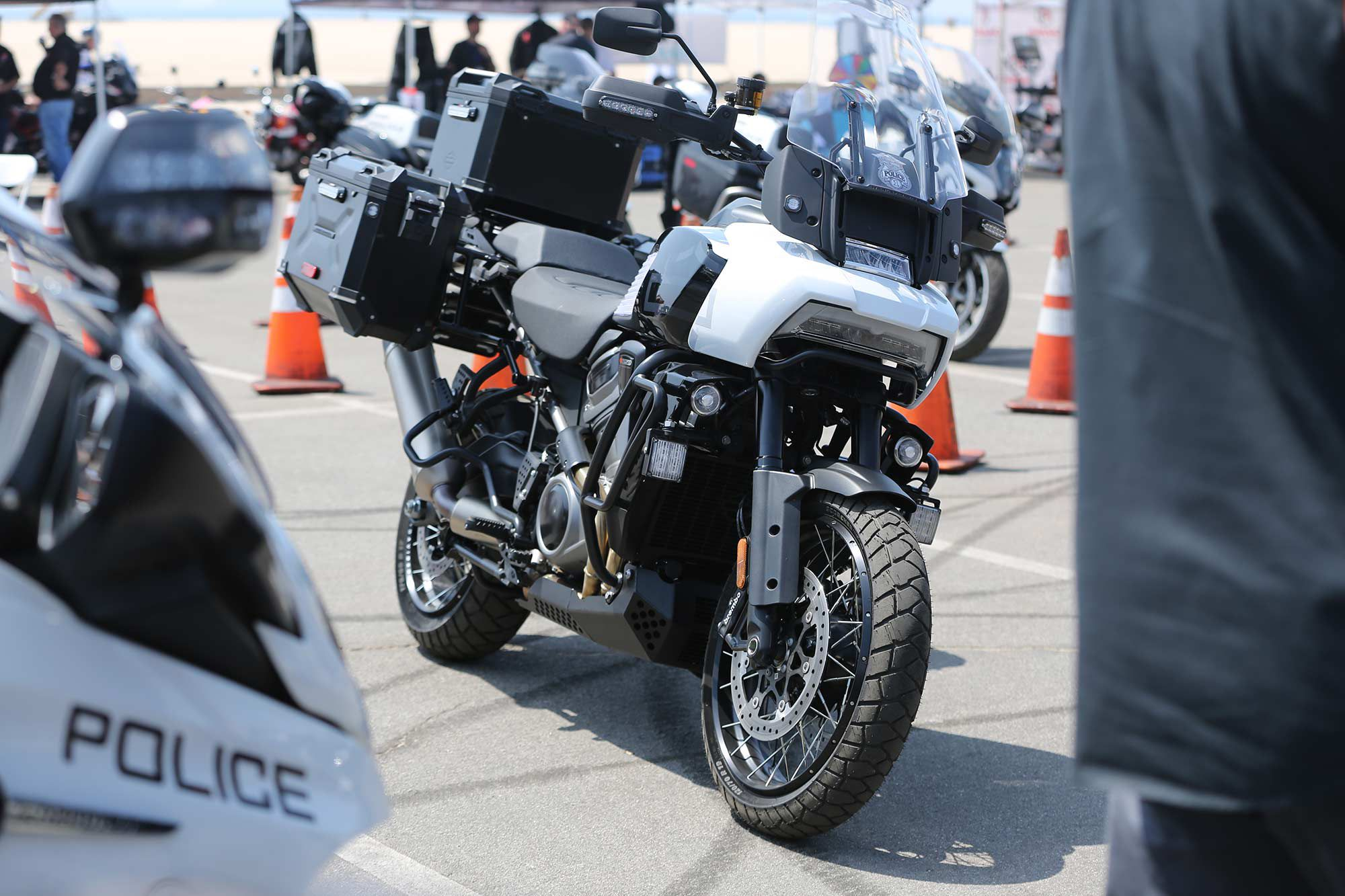 A Pan America police bike could allow cops to access places unreachable on the touring machines that are being used currently.