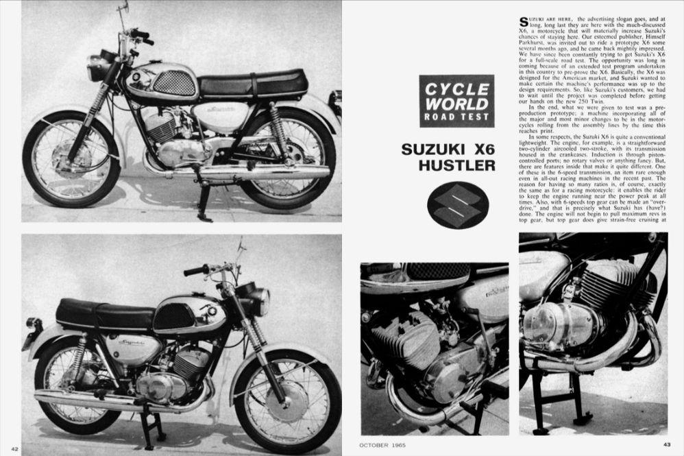 "Suzuki X6 ""HUSTLER"" Motorcycle History, CLASSICS REMEMBERED"