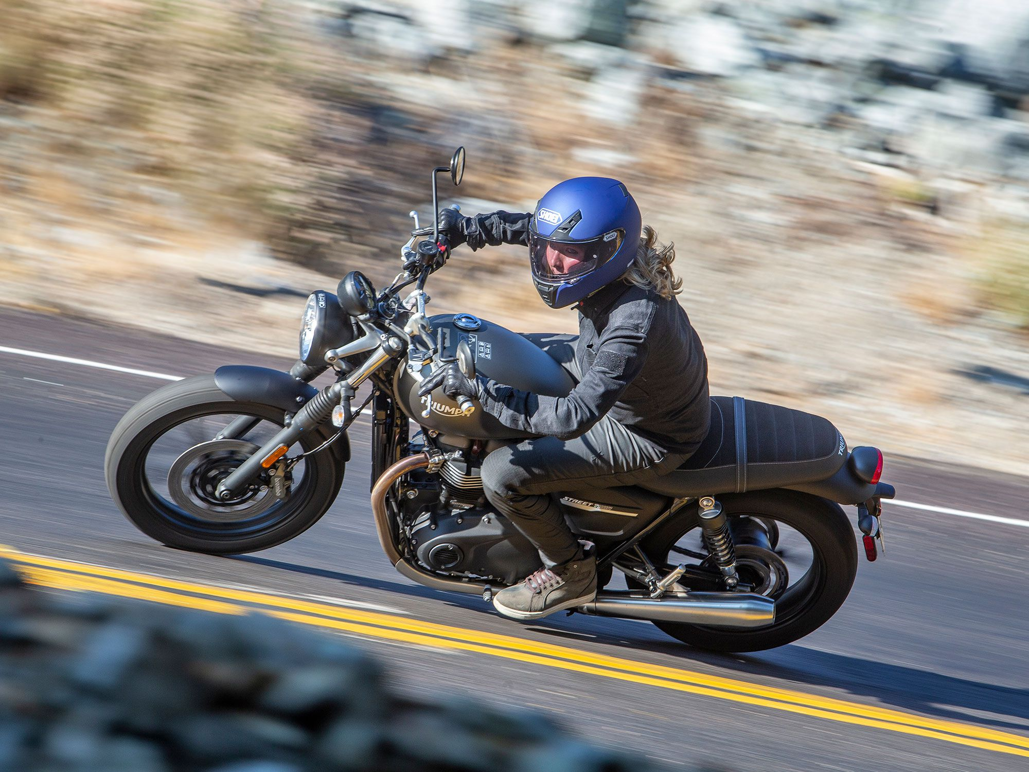 The Street Twin may be a bit pricier than some of the competition, but what it adds in dollars is up-spec components and a whole lot of character.