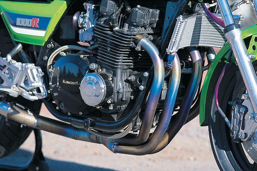 Dave Turner's 1982 Kawasaki KZ1000R engine