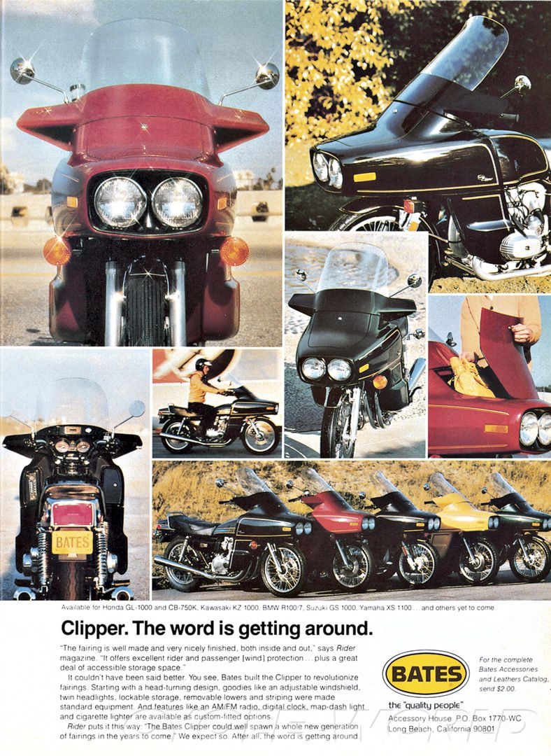 """The accessory Bates Clipper fairing with front-trunk """"style"""" was meant to revolutionize fairings."""