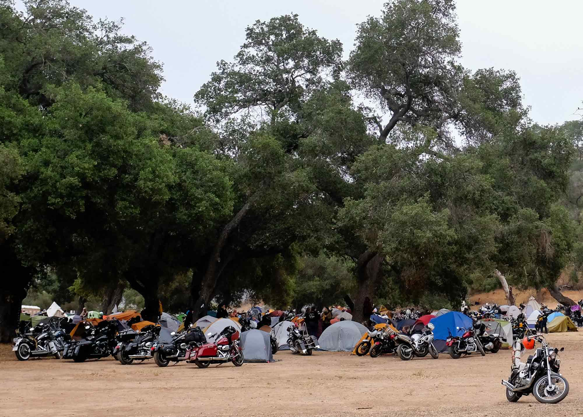 The marine layer sat thick above the Los Padres mountains in the early morning as campers began readying their machines for the day ahead.